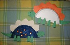 Stegosaurus paper plate craft