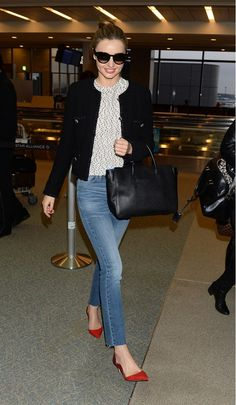 One of Kerr's girliest looks to date is made significantly edgier by the barely-there fraying at the hem of her jeans