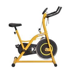 Soozier Upright Stationary Exercise Cycling Bike w/ LCD Monitor - Yellow Review