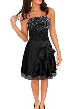 44eb8f4a2956a BlackButterfly 'April' Bliss Satin Waterfall Party Prom Dress (Black UK 10)
