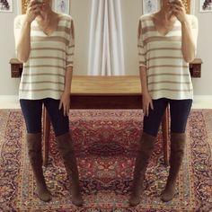 blusa tricot listras cru