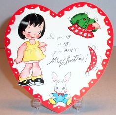 Vintage Paper Doll Valentine