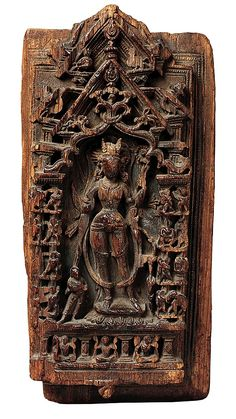 Shrine Relief Fragment Depicting Ashtamahabhaya Tara, the Buddhist Savioress Date: 10th–11th century Culture: India (Himachal Pradesh) Medium: Wood Dimensions: H. 17 3/4 in. (45.1 cm); W. 8 5/8 in. (21.9 cm); D. 2 5/8 in. (6.7 cm) Classification: Sculpture Credit Line: Gift of The Kronos Collections, 1994 Accession Number: 1994.488