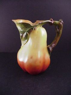 RARE ROYAL BAYREUTH FIGURAL PEAR WATER PITCHER