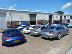Next day, drove to Calias, took train across eurotunnel back to UK, then to Silverstone,  Here resides a cool Porsche shop