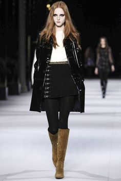 **Favorite Saint Laurent Ready To Wear Fall Winter 2014 Paris Live Fashion, Fashion Show, Fashion Outfits, Fashion Design, Fashion News, Camel Boots, Runway Fashion, Paris Fashion, Fall Winter 2014