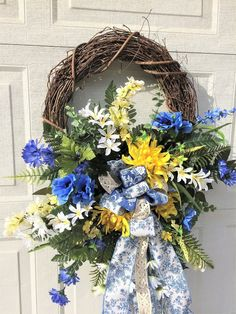 Mothers Day grapevine Door wreath, Spring grapevine Floral wreath, Summer Grapevine Wreath, Front Door Grapevine wreath, Floral door wreath by Melissasdoordecor on Etsy