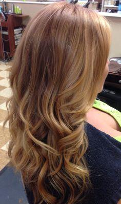 Balayage sombrè copper blonde