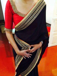 Find Pretty Orange Blouse Designs For Sarees Here Sari Blouse Designs, Saree Blouse Patterns, Dress Designs, Lace Saree, Organza Saree, Saree Trends, Stylish Sarees, Elegant Saree, Diy Clothing