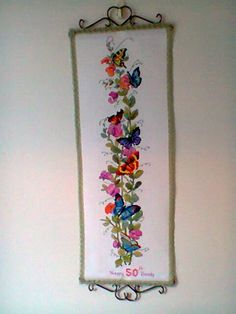 My butterflies and sweetpeas for my sisters 50th b-day