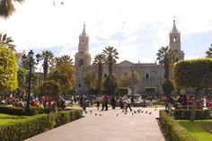 The Main Square of Arequipa and the Cathedral at the back. #peru #arequipa #travel  http://www.peruinsideout.com/wp/destinations/peru/arequipa-the-white-city/