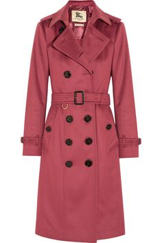 Burberry London | Brushed-cashmere trench coat | NET-A-PORTER.COM