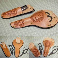 #ハサミケース #庭師 #レザーカービング #レザークラフト #革細工 #革 #ハンドメイド #手縫い #leathercraft  #leather #独学