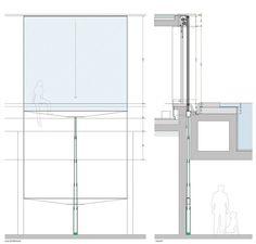 Fenêtre guillotine à galandage en aluminium Fenêtre guillotine à galandage by OTIIMA