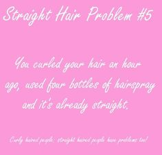 Straight Hair Problems