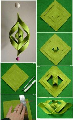 New origami diy step by step how to make 24 ideas Origami Diy, Origami And Kirigami, Useful Origami, Origami Tutorial, Diy Tutorial, Origami Instructions, Origami Lamp, Origami Paper Art, Ornament Tutorial