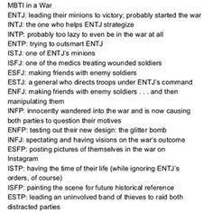 MBTI in war
