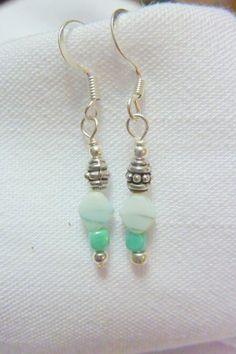 Greenbeads Mint Beaded Dangle Earrings NJWGeBFI