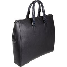 Lanvin Leather Briefcase ($1,590) ❤ liked on Polyvore