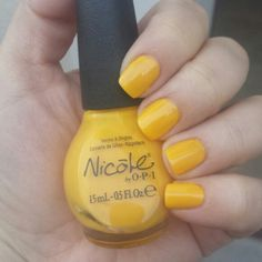 """Hit the Lights""  #nails #swatches #nailpolish #yellownailpolish"