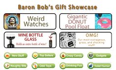 BaronBob.com - Unique and Unusual Gift Ideas, Funny Gags Gifts
