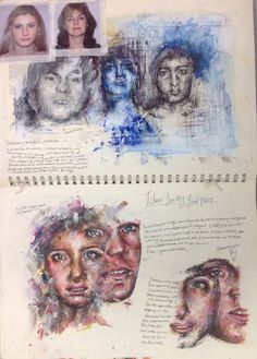 Photography portrait artistic photoshop 37 Ideas for 2019 Gcse Art Sketchbook, A Level Art Sketchbook Layout, Art Alevel, Art Diary, Sketchbook Inspiration, Sketchbook Ideas, Identity Art, Art Portfolio, Art Design