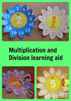 Multiplication and division learning aids made using a twinkl page.  Found on ofamilyblog