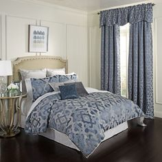 Beautyrest Normandy Comforter Set, Med Blue