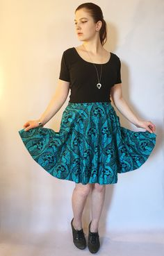 Silver Striped Circle Skirt, High Waisted Skirt, Full Circle Skirt ...