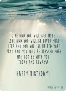 religious birthday wishes for christian