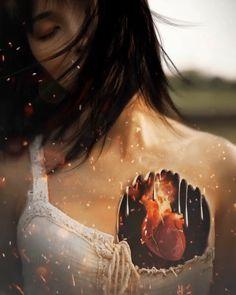 Beautiful Romantic Pictures, Beautiful Gif, Fantasy Love, Beautiful Fantasy Art, Broken Heart Wallpaper, Cinemagraph Gif, Good Evening Greetings, Chica Gato Neko Anime, 3d Foto