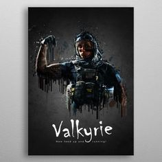 Want a metal print copy?: Visit Store Description: Operator Valkyrie from Rainbow. by TraXim Design Wall Art Prints, Framed Prints, Poster Prints, Canvas Prints, Vintage Posters, Canvas Art, Rainbow, Shower Curtains, Fine Art