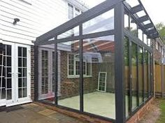 Image result for reverse pitch lean to conservatory\