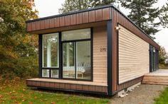 Chris Pardo Design: Elemental Architecture designed this modern prefab island retreat as a small vacation cabin on the island of Marrowstone in Washington. Method Homes, Tiny House, Small Houses, Image House, Beautiful Homes, Architecture Design, House Plans, Outdoor Structures, House Design