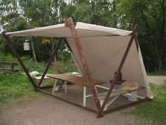 Landscaping Software - Offering Early View of Completed Project Birka Tent Best Tents For Camping, Tent Camping, Glamping, Decoration Pirate, Viking Tent, Gazebos, Medieval Furniture, Diy Tent, Tent Design