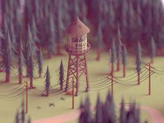 Gravity falls by Mohamed Chahin #Design Popular #Dribbble #shots
