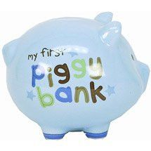 Blue Boy's Carter's Child of Mine Ceramic Piggy Bank