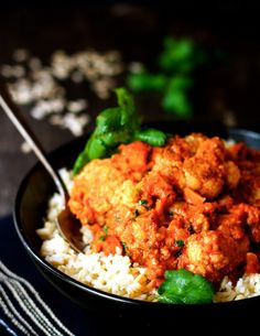 Cauliflower and Sweet Potatoes in Roasted Red Pepper Mole July 22, 2015 3 Comments