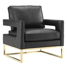 Shop living room accent chairs and occasional chairs in fresh colors and fabrics. Featuring accent chairs with arms, velvet side chairs, and more occasional armchairs. Black Leather Chair, Leather Club Chairs, Gold Leather, Leather Lounge, Leather Recliner, Distressed Leather, Brown Leather, Design Museum, Modern Chairs