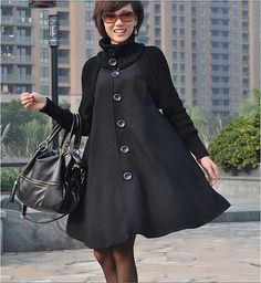 Hey, I found this really awesome Etsy listing at https://www.etsy.com/listing/204061418/black-women-cape-coat-large-size-long
