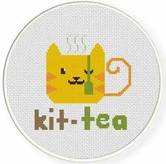 Kit tea cross stitch