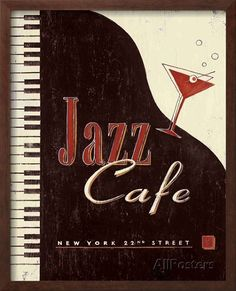 Vintage Jazz Cafe Art by Angela Staehling at AllPosters.com