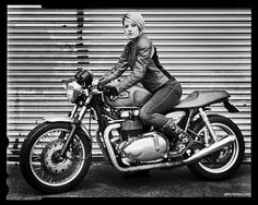 Girl with a Triumph