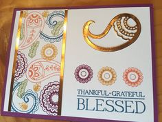 Loving the Paisleys and Posies set from the Stampin' Up! Holiday mini!