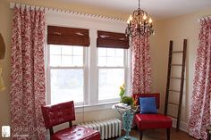 Unique way to hang window treatments by Inspired by Charm