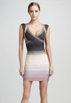 Herve Leger 2013 Nannette Ombre Bandage Dress