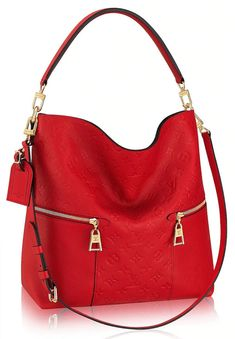 Melie Monogram Bag - Red, Black, Blue L 13.4 x H 16.5 x W 4.9 inches Embossed supple cowhide and smooth cowhide Smooth supple cowhide trim Textile lining Gold-color hardware Removable short shoulder handle Removable and adjustable strap Removable name tag 2 outside zipped pockets with engraved zip pullers Inside flat pocket Double smartphone pocket 4 bottom studs Louis Vuitton Handbags Sale, Lv Handbags, Fashion Handbags, Fashion Bags, Designer Handbags, Latest Handbags, Fashion Trends, Fashion Fashion, Runway Fashion