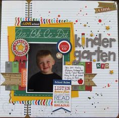 1 photo school scrapbook layout
