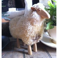 Add To Svpply Beautifully Made Wooden Sheep With Real