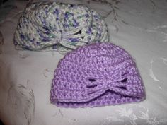 Crochet butterfly hat. Made for Click for Babies charity.